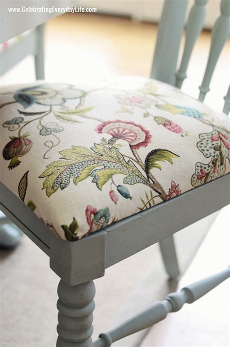 How To Recover A Chair Seat Cushion by Recover Dining Chairs On Pinterest Dining Chair Makeover