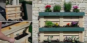 fabriquer une jardinire avec des palettes elegant With brise vue avec jardiniere 9 transformer une palette en bois en jardiniare deco