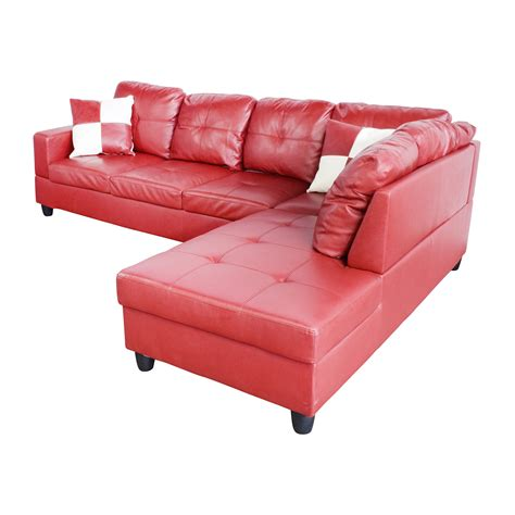 red sectional sofa with recliner 76 off beverly furniture beverly furniture red faux