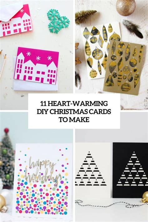 heart warming diy christmas cards   diy