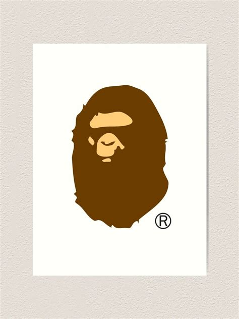 """Bape Ape Logo A Bathing Ape"" Art Print by Sbooth9"