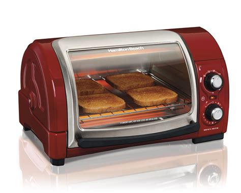Simple Toaster Oven - hamilton easy reach pizza toaster oven broiler