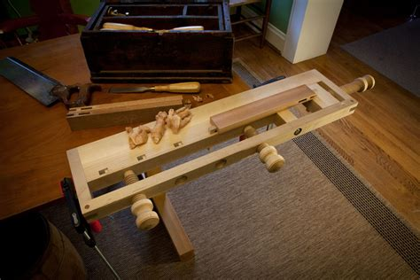 woodwork portable wood carving bench  plans