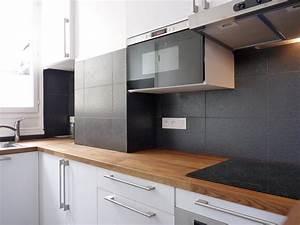 Réorganisation espace cuisine et salle de bain petit appartement architecte