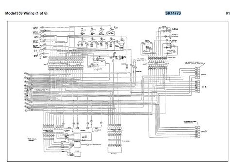 1994 Peterbilt Dash Wiring Diagram Schematic by Peterbilt 359 Complete Electrical Wiring Diagrams