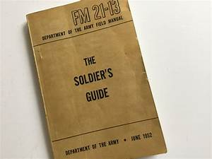 Vintage 1952 Department Of The Army Field Manual Book  U0026quot The