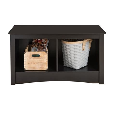 Prepac Storage Bench by Prepac Sonoma Black Storage Bench Bsc 3620 The Home Depot