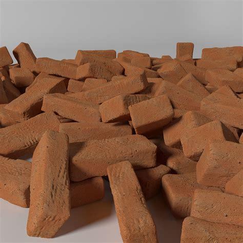 3d Detailed Clay Brick Cgtrader