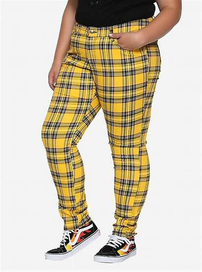 Pants Plaid Yellow Plus Skinny Tripp Hottopic