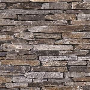 Tapete Steinoptik 3d : 3d designpanel stein beige braun creme 52 cm x 2 5 m bauhaus ~ Frokenaadalensverden.com Haus und Dekorationen