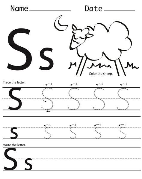 Printable Letter S Worksheets  Activity Shelter