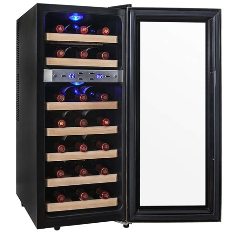 thermoelectric wine cooler akdy 21 bottle dual zone thermoelectric freestanding wine