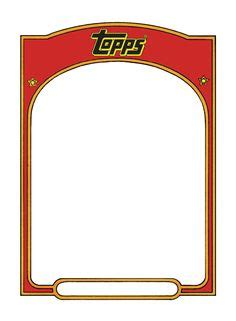 Sports Trading Card Templet Craft Ideas Baseball Card Templates Free Blank Printable
