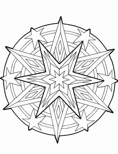 Coloring Cool Pages Designs Printable Christmas Mandala