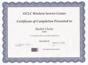 Professional Certificate of Completion Template