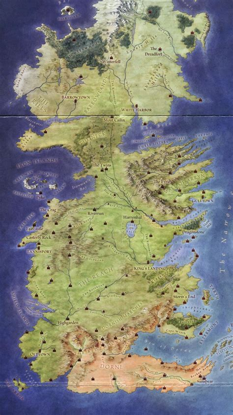 map  westeros wallpaper  images