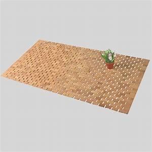 Tapis En Bois : tapis de bain lattes bois bambou tapis de bain eminza ~ Teatrodelosmanantiales.com Idées de Décoration
