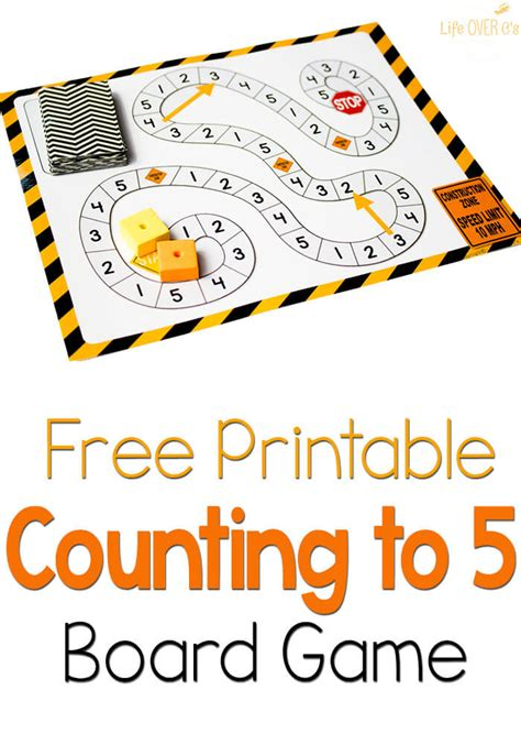 free counting to 5 construction theme 691 | Counting to 5 Game Pin