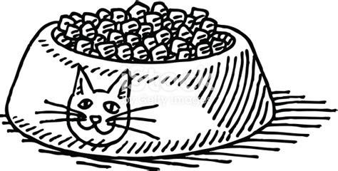 cat food bowl drawing stock vector art  images