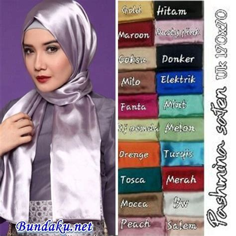 hijab pashmina satin model  terbaru harga murah