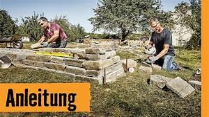 Trockenmauer Bauen Ohne Fundament : trockenmauer bauen hornbach meisterschmiede youtube ~ Lizthompson.info Haus und Dekorationen