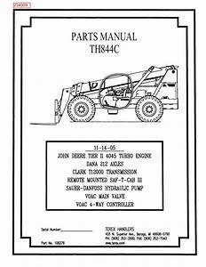 2006 Terex Th844c Parts Manual Pdf  3 54 Mb