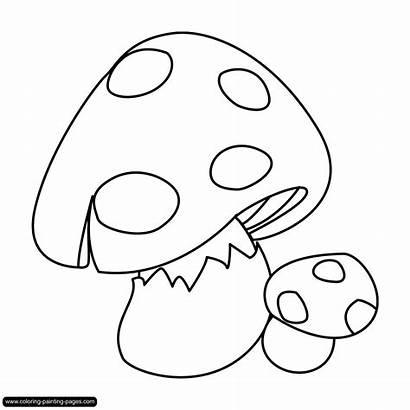 Mewarnai Jamur Gambar Paddenstoelen Mushroom Kleurplaten Coloring