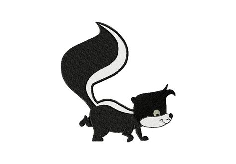 cartoon skunk machine embroidery design  gold members
