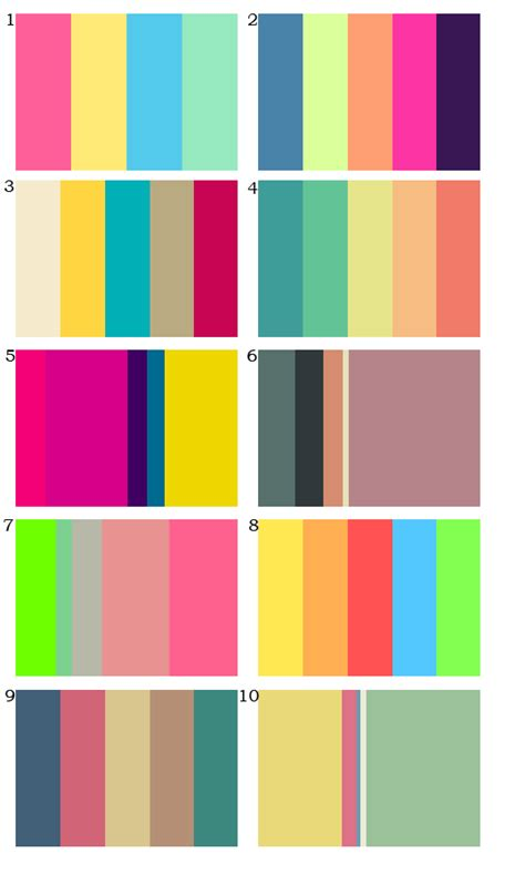 80s color palette color palettes with an 80 s 90 s themes of things
