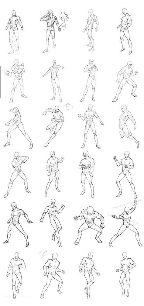 poses chart 02 by theoneg on deviantart