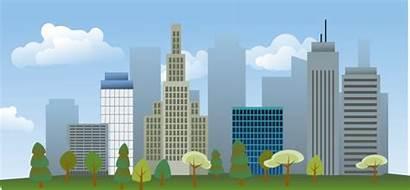 Skyline Clip Clipart Vector Cityscape Background Buildings
