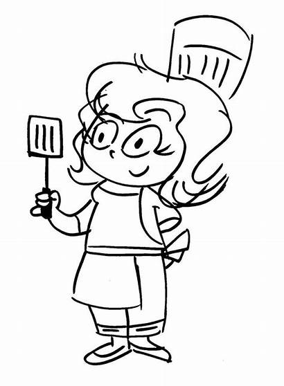 Chef Cartoon Drawing Kitchen Crazy Cooking Drawings