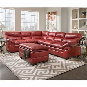simmons titan 3 piece titan bonded leather living room With simmons red leather sectional sofa