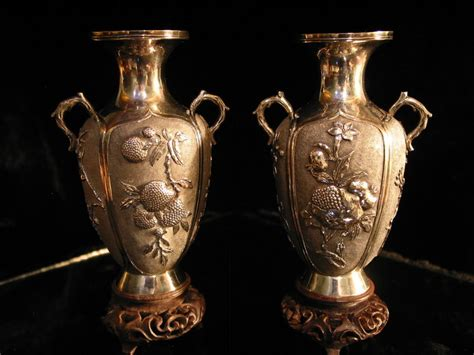 Silver Vases For Sale by A Pair Of Antique Silver Vases For Sale Antiques