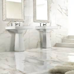 carrara white marble effect porcelain wall floor tiles