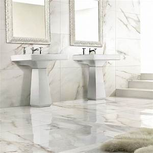 Carrara white marble effect porcelain wall floor tiles for Marble tiles bathroom uk