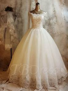 ball gown off the shoulder lace church sequins wedding With church wedding dresses