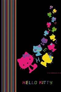 hello kitty backgrounds | Black background Hello Kitty ...