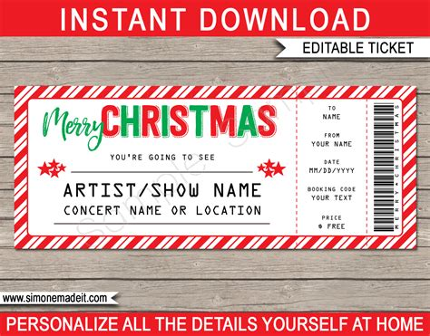 Concert Ticket Template Tickets Templates Free Gallery