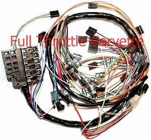 1963 Corvette Dash Wiring Harness  Without Back