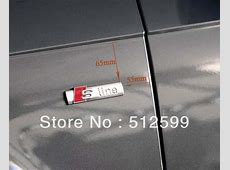 Need help with Sline badges 2013's A4 AudiSportnet