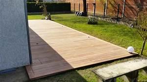 Eclairage Terrasse Bois : terrasse bois avec clairage int gr loire eco bois ~ Melissatoandfro.com Idées de Décoration