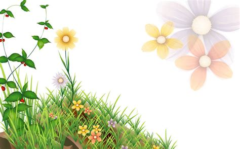 animated flower powerpoint template   backgrounds
