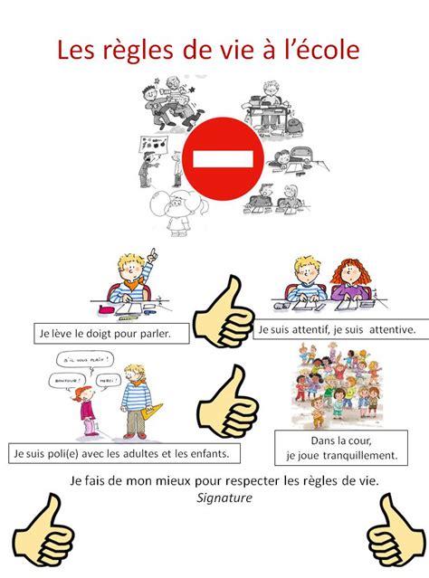 Tableau Regle De Vie by Les R 232 Gles De Vie En Classe Pascale