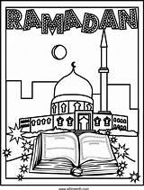Coloring Masjid Getcolorings Ramadan sketch template