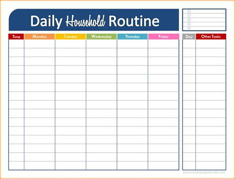 daily schedule template daily schedule maker task list templates 21299 | daily schedule maker daily schedule maker dailyhouseholdroutine png wpcguD