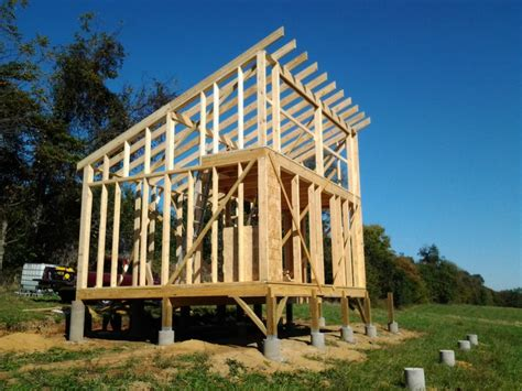 shed roof framing question about framing the roof of a shed style roof cabin