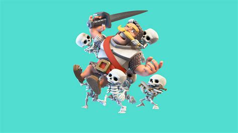 480x854 Clash Royale Knight And Skelton Android One Hd 4k