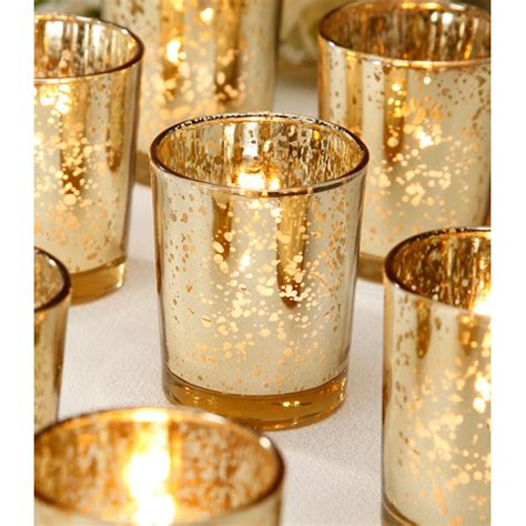 gold votive candle holders wedding votives gold mercury glass votives
