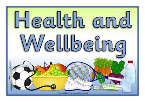 childrens wall health and wellbeing well being display posters sb11406